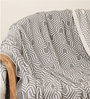 Pluchi Graham Natural Knitted Queen-Size Throw Blanket in Grey Colour