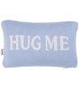 Pluchi Hug Me Cushion Pillow in Sea Blue & Natural Colour
