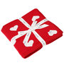 Pluchi Love Is Everywhere Baby Blanket in Red & Natural Colour