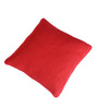 Pluchi Red Cotton 18 x 18 Inch Knit & Purl Knitted Cushion Cover