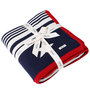 Pluchi The Star Walk Baby Blanket in Dark Navy, Natural & Red Colour