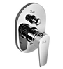 Plumber Aura Chrome Brass 3 Inlet Single Lever Conceal Diverter