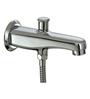 Plumber Stellar Chrome Brass Button Spout For Tel Shower