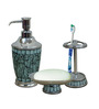Plumeria Ice Berg Polypropylene 3-piece Bathroom Set