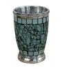 Plumeria Green Mosaic Bathroom Accessories 1 Pc