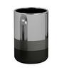 Plumeria Black & White Metal Bathroom Accessories 1 Pc
