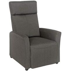 Pogo One Seater Recliner in Grey Colour by @home