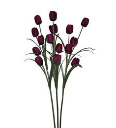 Pollination Dark Purple Tulip Artificial Flowers- Set of 3