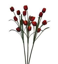 Pollination Shaded Orange Tulip Artificial Flowers -Set of 3