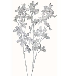 Pollination Silver Forcenthiya Artificial Flowers - Set of 3