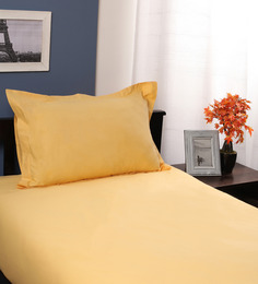 Portico New York Brown Cotton Single Giselle Bed Sheet With Pillow Cover