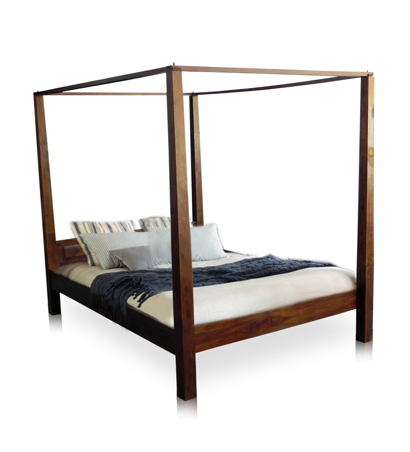 basil compact four poster queen size bed by mudra online