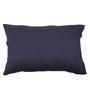 Po Box Navy Blue Cotton Pillow Cover - Single