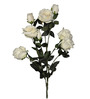 Pollination White Artificial Rose Flower