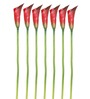 Pollination Red 26 x 2 x 2 Inch Calla Lily Artificial Flowers - Set of 7