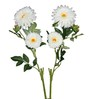 Pollination White Giant Gerbera Artificial Flowers- Set of 2