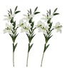 Pollination White Lily Artificial Flowers - Set of 3