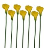 Pollination Yellow Calla Lily Artificial Flowers - Set of 7