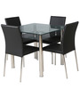 Polo Metallic Four Seater Dining Set in Black Colour by HomeTown