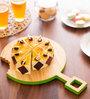 Poppadum Art Omnomnom Round Serving Platter Cum Chesse Board