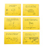 Poppadum Art Thoughts for Food Yellow MDF Placemats - Set of 6