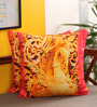 Portico Multicolour Cotton 16 x 16 Inch Indian Ethnic Band Baja Barat Cushion Cover - Set of 2