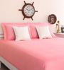 Portico New York Pink Cotton King Size Therapeia Bed Sheet with 2 Pillow Covers