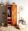 Longview Two Doors Wardrobe in Provincial Teak Finish by Woodsworth