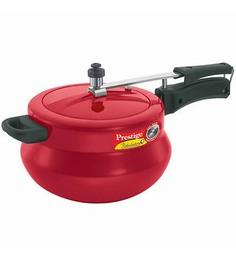Prestige Nakshatra Plus Aluminium 5L Polished Handi Cooker Flame Red