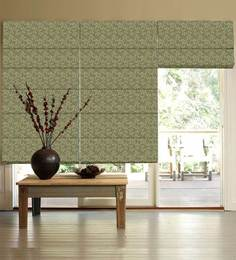Presto Green Polycotton Floral Window Blind