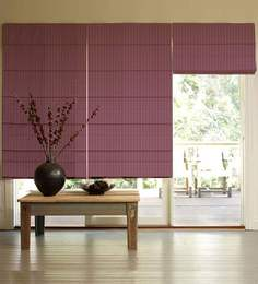 Presto Pink Polyester Striped & Checkered Window Blind