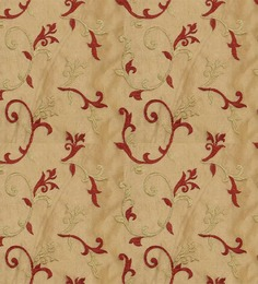 Presto Red N Gold Colour Floral Tissue Embroidered With Lining Door Curtain. - 1339239