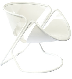Pringles Chair in White Colour by Tube Style