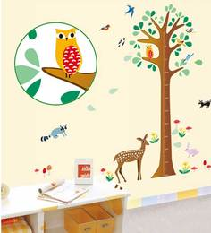 Print Mantras Height Tree For Kids Room Wall Sticker