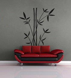 Print Mantras PVC Wall Stickers Beautiful Black Bamboo Trees