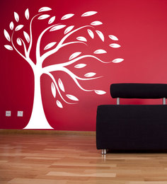 Print Mantras Wall Stickers Beautiful Big White Tree