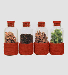 Untold Homes Ethnic Rust Bottle - Set of 4