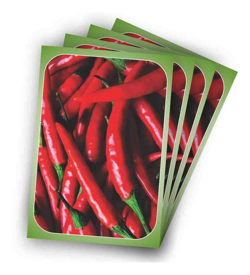 Chili Pepper Kitchen Placemats Set