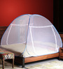 Prc Treliyan & Stainless Steel Double Bed Blue Border Mosquito Net