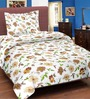 Cortina Hearty Chestnut Cream Cotton Single Bed Sheet (with Pillow Covers)