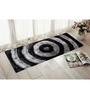 Presto Black & Grey Polyester 55 x 22 Inch Abstract Bedside Runner