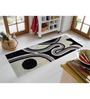 Presto Black & White Polyester 55 x 22 Inch Abstract Bedside Runner