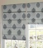 Presto Black & White Polyester Embroidered Window Blind