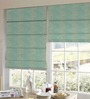 Presto Blue Polyester Abstract Window Blind
