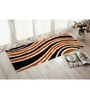 Presto Brown & Gold Polyester 55 x 22 Inch Abstract Bedside Runner