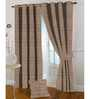 Presto Brown Polyester 108 x 46 Inch Solid Eyelet Door Curtain - Set of 2