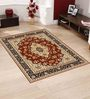 Presto Brown Polyester Traditional Area Rug