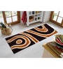 Presto Brown And Gold Polyester 55 x 22 Inch Abstract Bedside Runner