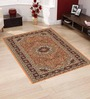 Presto Brown Polypropylene 60 x 36 Inch Traditional Area Rug