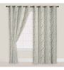 Presto Golden & Gray 84 x 46 Inch Abstract Door Curtain - Set of 2